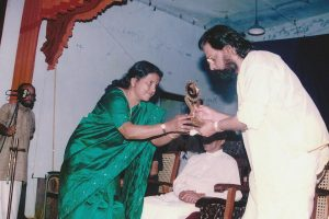 Performed 'Radhamadhavam' while welcoming Sree K J Yesudas