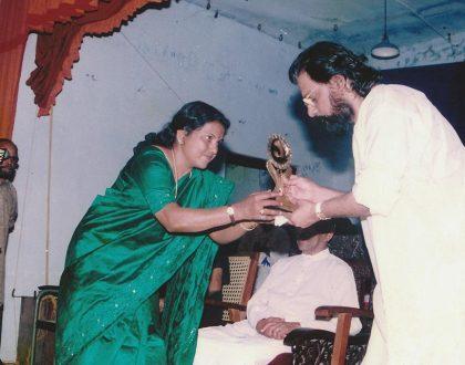 Performed 'Radhamadhavam' while welcoming Sree K J Yesudas